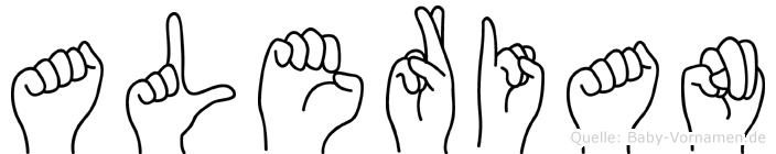 Alerian in Fingersprache für Gehörlose