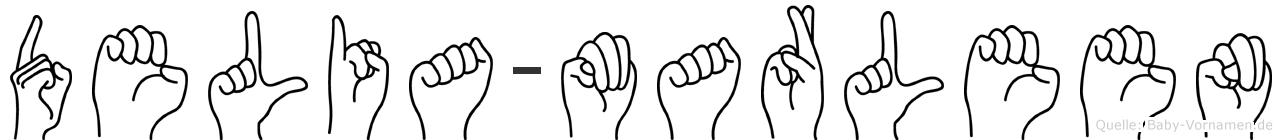 Delia-Marleen im Fingeralphabet der Deutschen Gebärdensprache