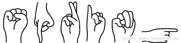 Spring im Fingeralphabet der Deutschen Gebärdensprache