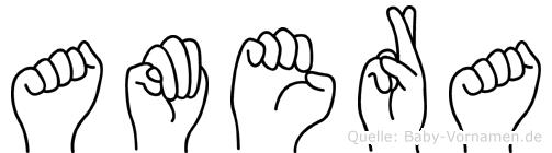 Amera in Fingersprache für Gehörlose
