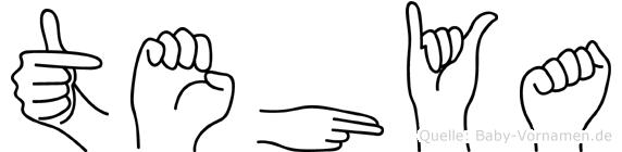 Tehya im Fingeralphabet der Deutschen Gebärdensprache