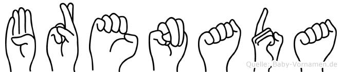 Brenada in Fingersprache für Gehörlose