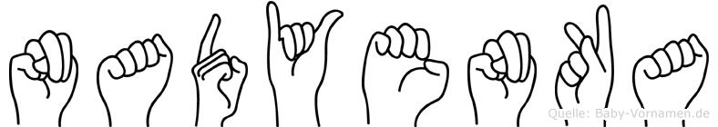 Nadyenka in Fingersprache für Gehörlose