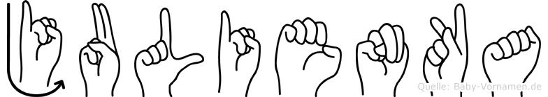 Julienka im Fingeralphabet der Deutschen Gebärdensprache