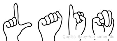 Lain in Fingersprache für Gehörlose