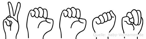 Veean im Fingeralphabet der Deutschen Gebärdensprache