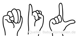 Nil im Fingeralphabet der Deutschen Gebärdensprache