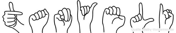 Tanyeli in Fingersprache für Gehörlose