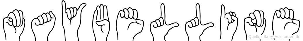 Maybelline im Fingeralphabet der Deutschen Gebärdensprache