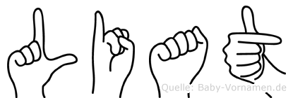 Liat im Fingeralphabet der Deutschen Gebärdensprache