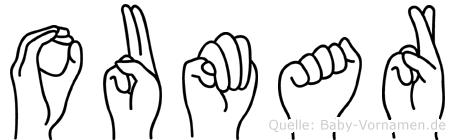 Oumar im Fingeralphabet der Deutschen Gebärdensprache