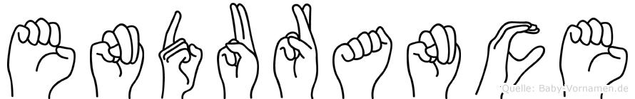 Endurance in Fingersprache für Gehörlose