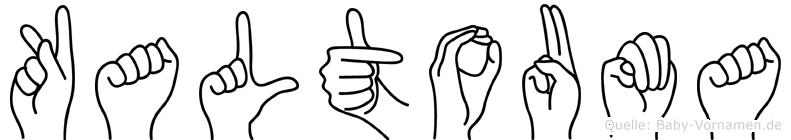 Kaltouma in Fingersprache für Gehörlose