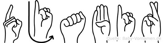 Djabir in Fingersprache für Gehörlose