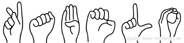 Kabelo in Fingersprache für Gehörlose