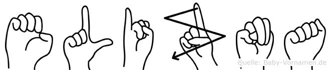 Elizna in Fingersprache für Gehörlose