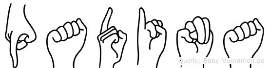 Padina in Fingersprache für Gehörlose