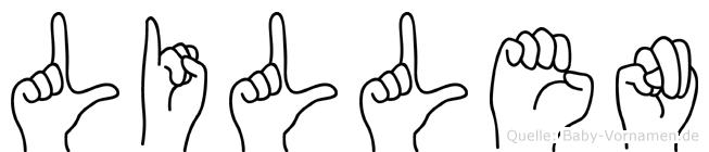Lillen in Fingersprache für Gehörlose