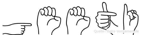 Geeti in Fingersprache für Gehörlose
