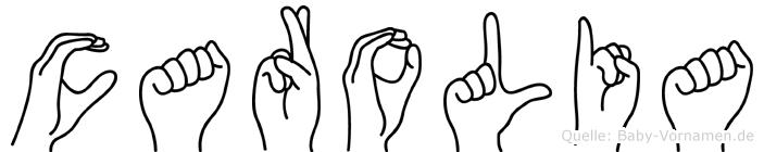 Carolia in Fingersprache für Gehörlose