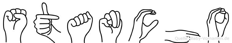 Stancho im Fingeralphabet der Deutschen Gebärdensprache