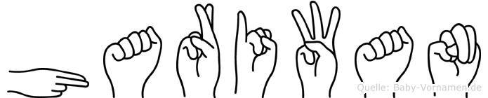 Hariwan im Fingeralphabet der Deutschen Gebärdensprache