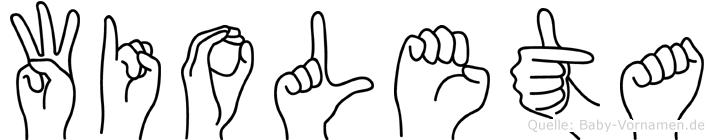 Wioleta in Fingersprache für Gehörlose
