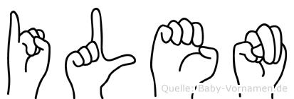Ilen in Fingersprache für Gehörlose