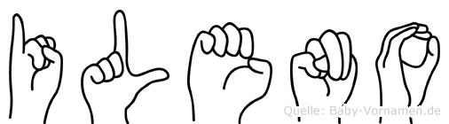 Ileno im Fingeralphabet der Deutschen Gebärdensprache