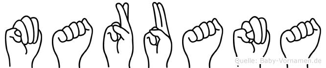 Maruana in Fingersprache für Gehörlose