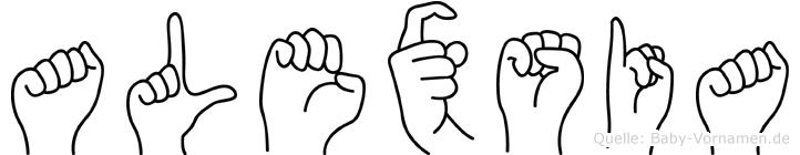 Alexsia in Fingersprache für Gehörlose