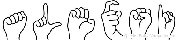 Alexsi in Fingersprache für Gehörlose