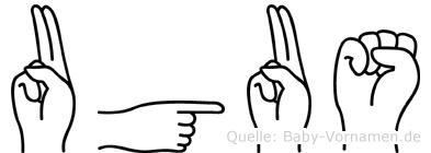 Ugus in Fingersprache für Gehörlose