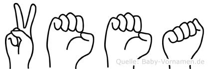 Veea im Fingeralphabet der Deutschen Gebärdensprache
