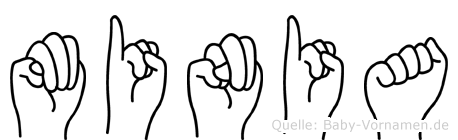 Minia in Fingersprache für Gehörlose