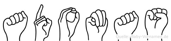 Adomas im Fingeralphabet der Deutschen Gebärdensprache