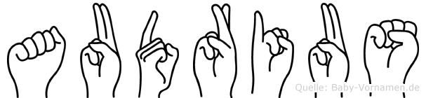 Audrius im Fingeralphabet der Deutschen Gebärdensprache