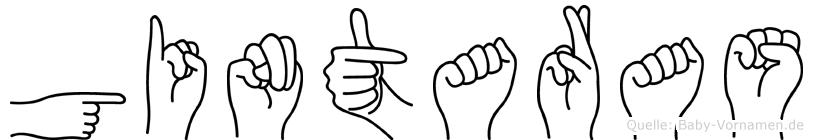 Gintaras im Fingeralphabet der Deutschen Gebärdensprache
