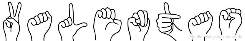 Valentas in Fingersprache für Gehörlose