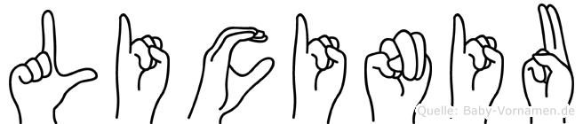 Liciniu in Fingersprache für Gehörlose