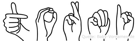Tormi in Fingersprache für Gehörlose