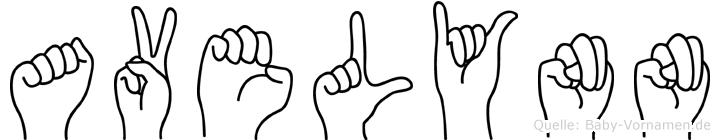 Avelynn in Fingersprache für Gehörlose
