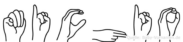 Michio im Fingeralphabet der Deutschen Gebärdensprache