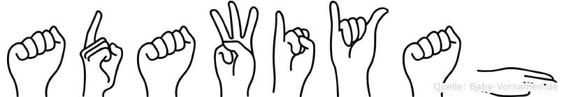 Adawiyah in Fingersprache für Gehörlose