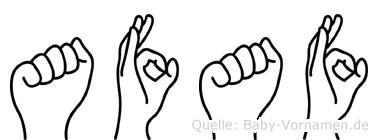 Afaf im Fingeralphabet der Deutschen Gebärdensprache
