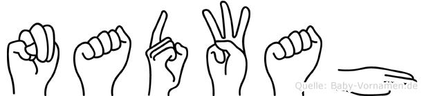 Nadwah im Fingeralphabet der Deutschen Gebärdensprache