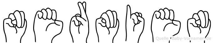 Nermien im Fingeralphabet der Deutschen Gebärdensprache