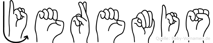 Jeremis im Fingeralphabet der Deutschen Gebärdensprache