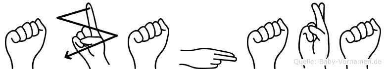 Azahara in Fingersprache für Gehörlose