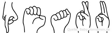 Pearu in Fingersprache für Gehörlose
